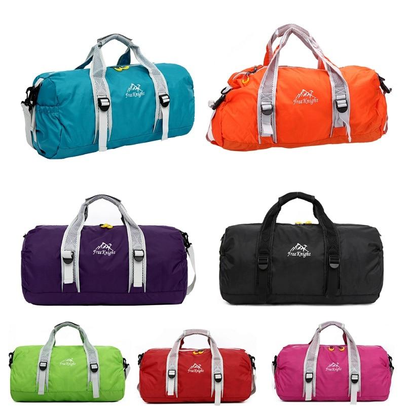Высокое качество унисекс 210 Водонепроницаемый нейлон Большой Ёмкость Сверхлегкий складной открытый спортивная сумка Спортивные сумки дорожная Duffle Сумки