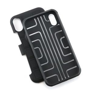 Image 5 - שריון טלפון מקרה עבור ארבע פינת הגנת מקרה עמיד הלם עבור iPhone XR XS מקסימום 6 7 8 בתוספת Kickstand TPU חזרה כיסוי Coque פגז