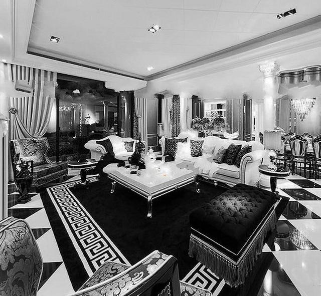 Merveilleux WINLIFE Luxury Fashion Black And White Stripes Rugs, Bedroom Sitting Room  Sofa Carpet , Custom