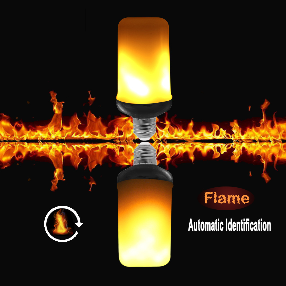 New G-sensor Automatic Flame Direction Fire Effect 3 Styles E27 LED Flame Bulb Mini G4 Flicker Flame Light ...