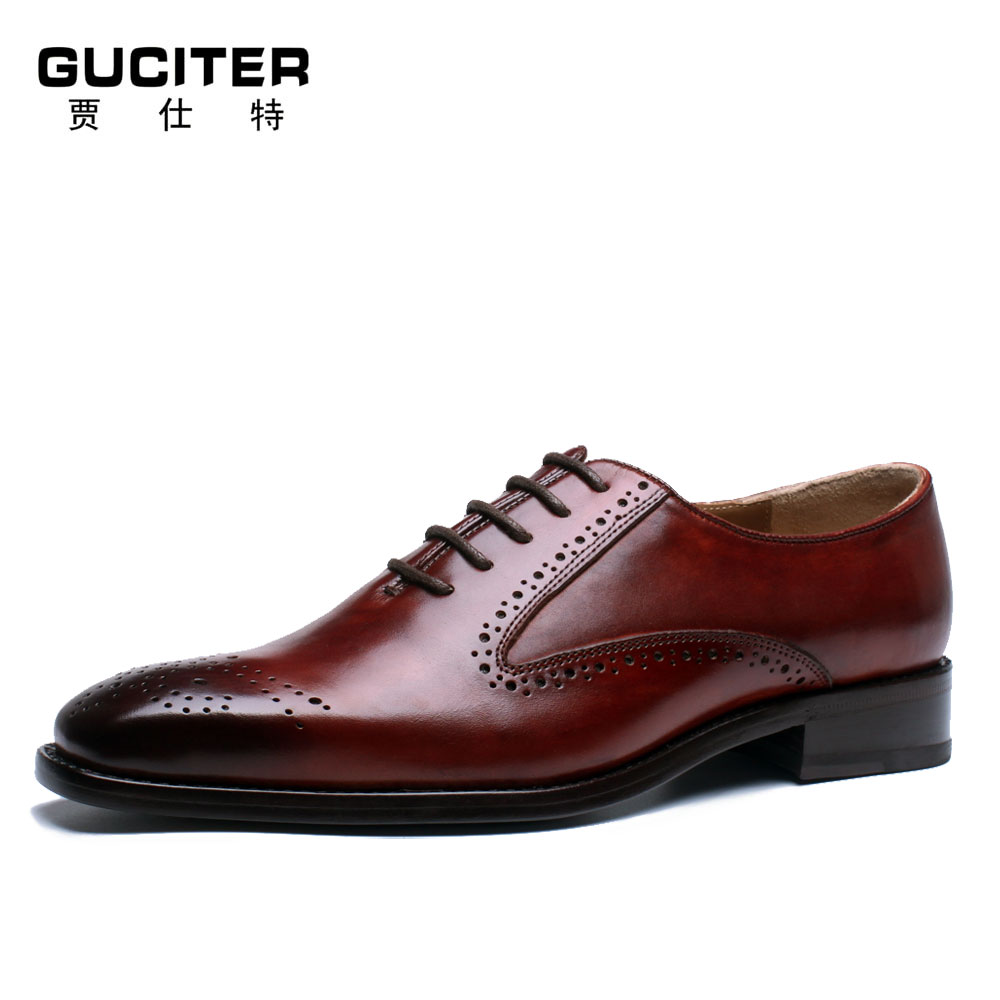 Free shipping Goodyear welted brogues Made-to-order shoes handmade italy brush color gradients brock oxfords cheap mens shoes цены онлайн