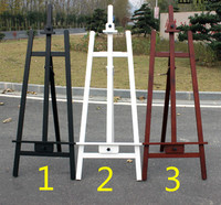 1.65m wooden pine oil painting easel liftable sketch frame exhibition stand wooden painting easel display 3colors optional