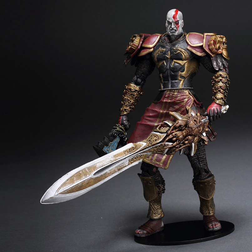 23 cm NECA Game God of War 2 Kratos in Ares Armor W Blades Action Figures Toys Collectible PVC Model Toy Gift For Kids N291 12 neca toys god of war action figures 2 infamous kratos figure pvc action figure model toy gw005