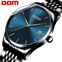 Watch Men DOM Top Brand Luxury Quartz Watch Casual Stainless Steel Mesh Strap Ultra Thin Clock