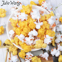Table-Decoration-Props Popcorn Resin Jewelry-Making-Accessory Charms Artificial-Food