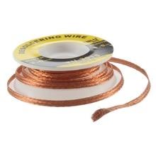 Segurança 5 ft. 3mm Fio BGA Desoldering Braid Solda Remover Wick Acessório Cor de Lata de Metal De Solda TU-3015