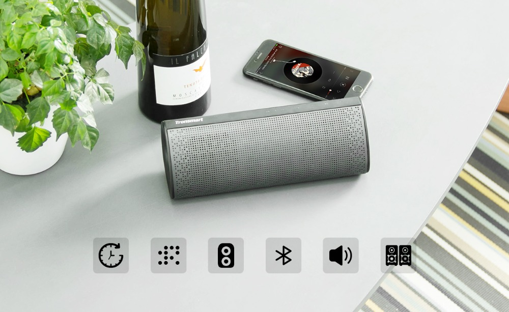 6Tronsmart Element Pixie Bluetooth Speaker TWS Soundbar Portable Speaker Subwoofer Speakers Double Passive 20W Wireless Speaker