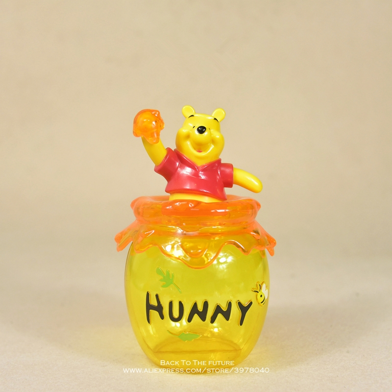 Disney Winnie the Pooh storage jar 16cm Action Figure Anime Decoration Collection Figurine mini doll Toy model for children giftAction & Toy Figures   -