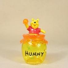 Figura de acción de the Pooh Winnie de Disney, tarro de almacenamiento de 16cm, colección de decoración de Anime, mini muñeca, modelo de juguete para niños, regalo