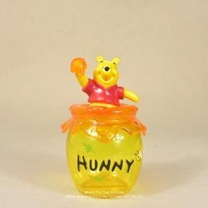 Image 1 - Figura de acción de the Pooh Winnie de Disney, tarro de almacenamiento de 16cm, colección de decoración de Anime, mini muñeca, modelo de juguete para niños, regalo