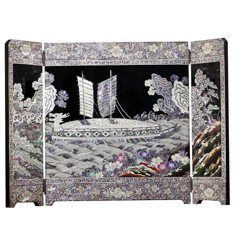 separador de ambientes biombo decoracin del hogar coleccin lacquerware pavo real material de japn mejores regalos de navidad