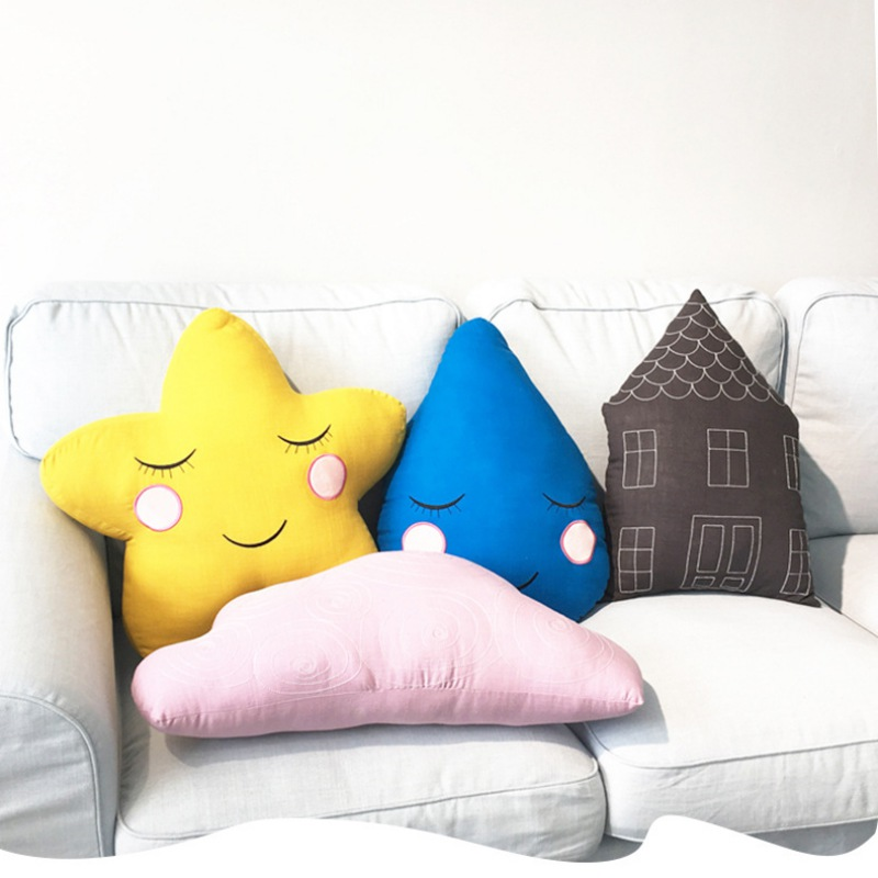 40x30cm Plush Soft Knotted Ball Baby Sleeping Pillow Bedroom Sofa Back Plush Lumbar Cushion Decoration Throw Pillow Stuffed Doll Toys & Hobbies