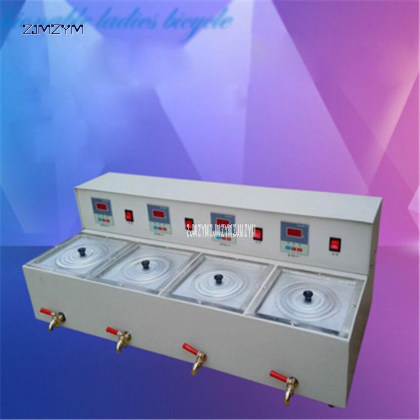 220V Water bath thermostat digital display laboratory four-hole magnetic stirring sink tank Four-temperature Testing Equipment цены