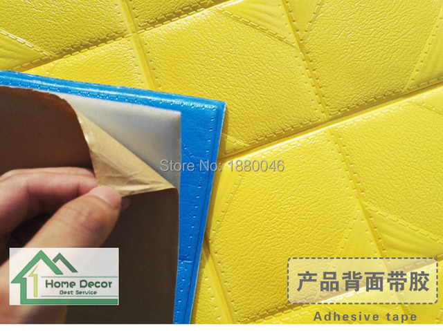 Self Adhesive tape 3D wall sticker Decorative 3D Wall panel for ...