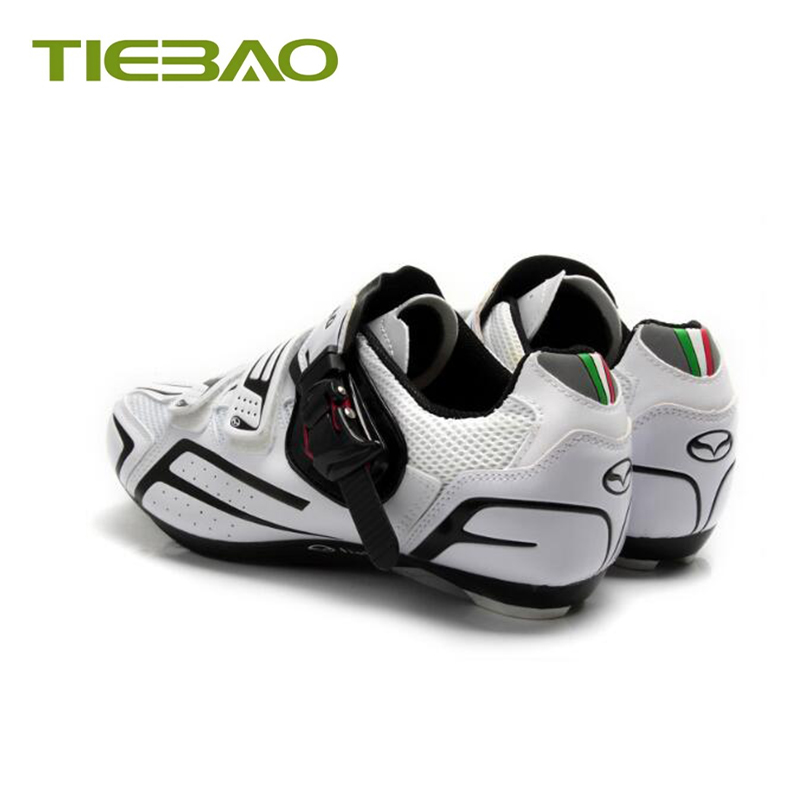 Купить с кэшбэком Tiebao 2019 pro cycling shoes sapatilha ciclismo road bike shoes breathable outdoor self-locking bicycle superstar sneaker