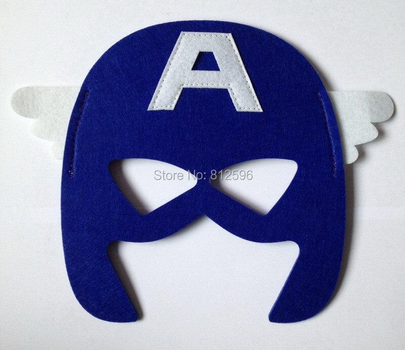 aliexpresscom buy 2015 new set 9 party costume felt superhero eye mask headband teenage women adult captain america spiderman batman hulk robin from