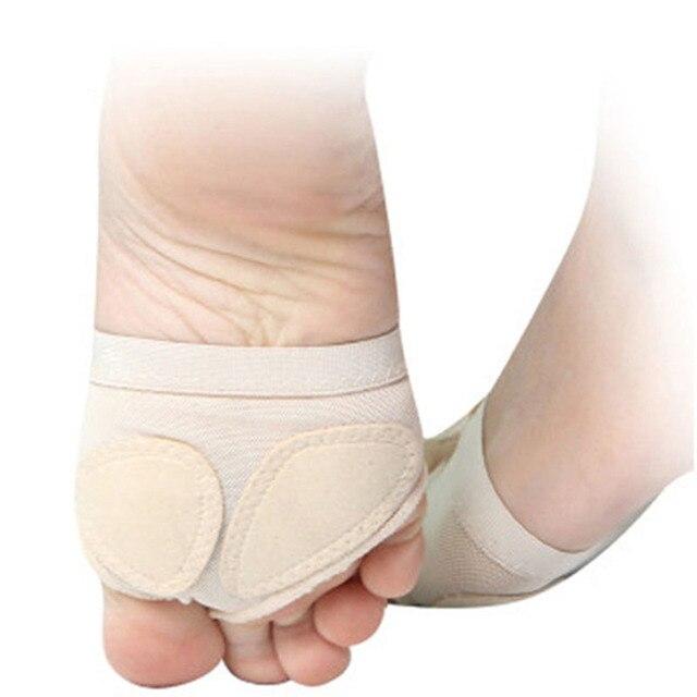 1 пара; Для женщин живота балет шлепанцы Разделение мягкая подошва Paw танец средства ухода за кожей стоп защита для пальцев ног, так и SK88