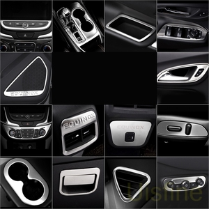 Stainless steel matte interior lifting panel central control gear air outlet decorative For Chevrolet Equinox 2017 2018 2019