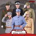 China y Japón Tradicional Unisex Militar Combat Uniform Garment Traje chaqueta + Pantalón + Cinturón Para la Película y TELEVISIÓN jugar
