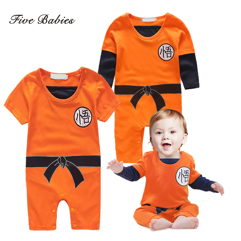 dragon ball baby rompers newborn baby boys clothes son goku toddler jumpsuit bebes halloween costumes for - Dragon Toddler Halloween Costume