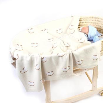 Baby Dekens Katoen Pasgeboren Wieg Beddengoed Deken Leuke Cartoon Baby Jongens Meisjes Gebreide Kinderwagen Mand Covers 100*80cm kids Quilt