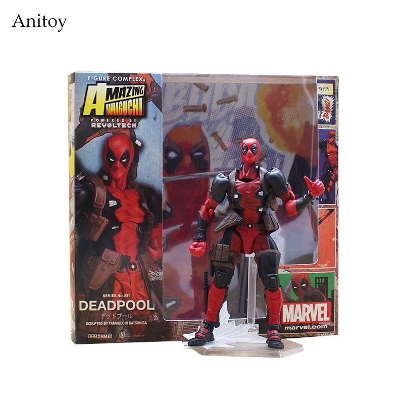 x men deadpool super warrior pvc action figures collectible model toys 36cm kt1979 SCI-FI Revoltech No.001 Deadpool PVC Action Figures Collectible Model Toys 15cm KT3627