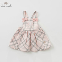 DBJ9674 dave bella spring Princess baby dresses girls Lolita dress children sleeveless high quality cotton dress