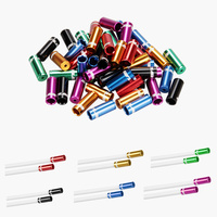 100Pcs 4mm Cycle Alloy Shifting Cable Housing Ferrule End Crimp Bicycle Part Bike Brake Shifter Cable