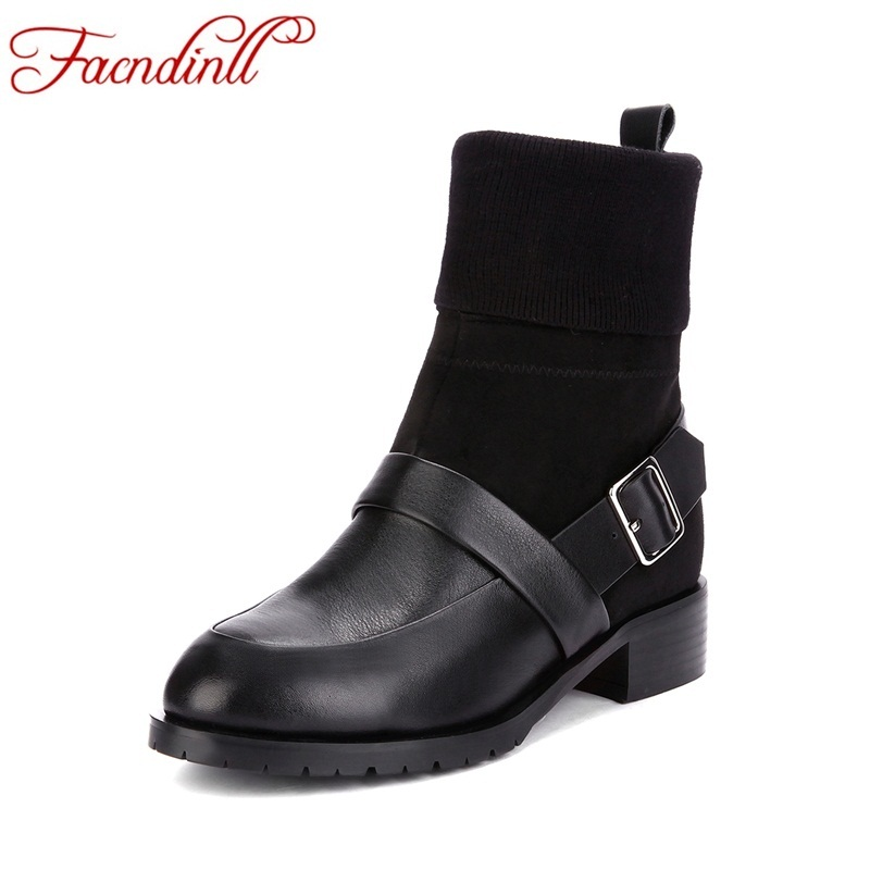 FACNDINLL genuine leather+wool warm winter snow boots fashion women shoes ankle boots high heels shoes woman casual riding boots все цены