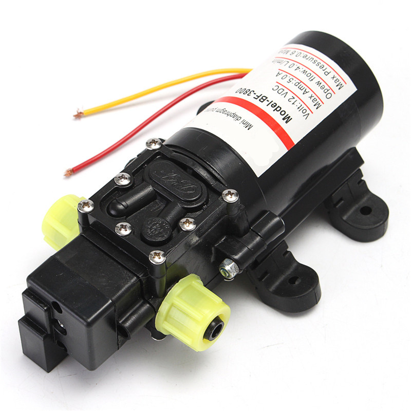 MTGATHER DC 12V Water Self-Priming Diaphragm Pressure Pump for Caravan/RV/Boat/Marine Boat Extremely efficient dc 12v 80w high pressure diaphragm water pump electric water pump for boat caravan marine motor water pumps