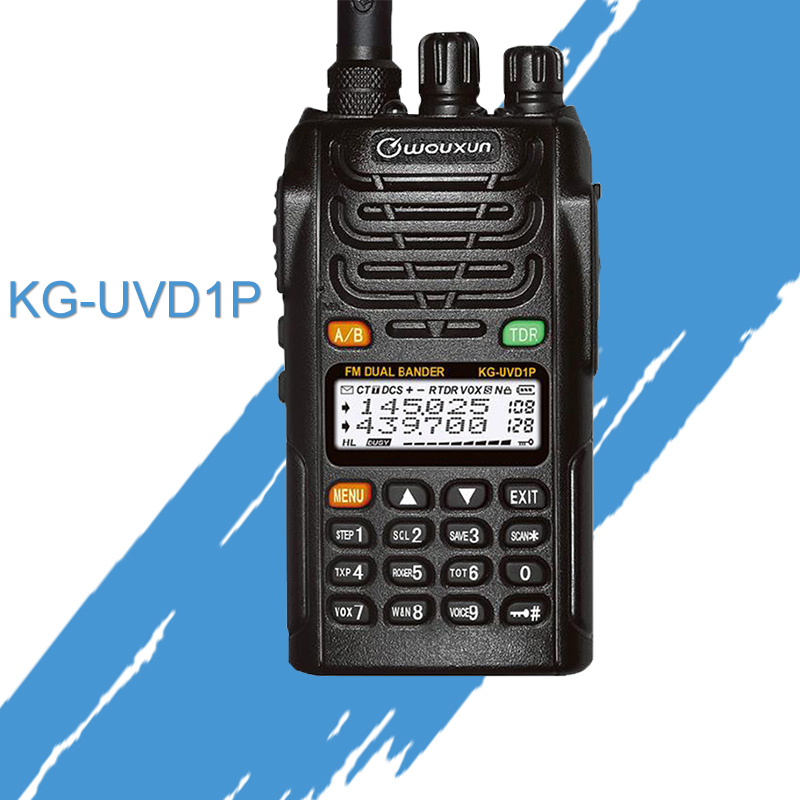 General walkie talkie for KG UVD1P Wouxun VHF/UHF Dual Band 136.000 174.995MHz & 400.000 479.995MHz FM Transceiver