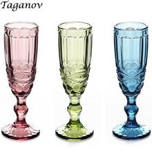 Бокал для шампанского, 3 шт., свадебные, ретро, для кухни, для столовой, бара, посуда для напитков, для сока, красного вина, вечерние, зеленые, синие, прозрачные, эмпаистические чашки