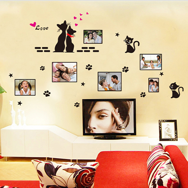 1X Couples cat city PVC Removable Room Decal Art DIY Wall Sticker ...