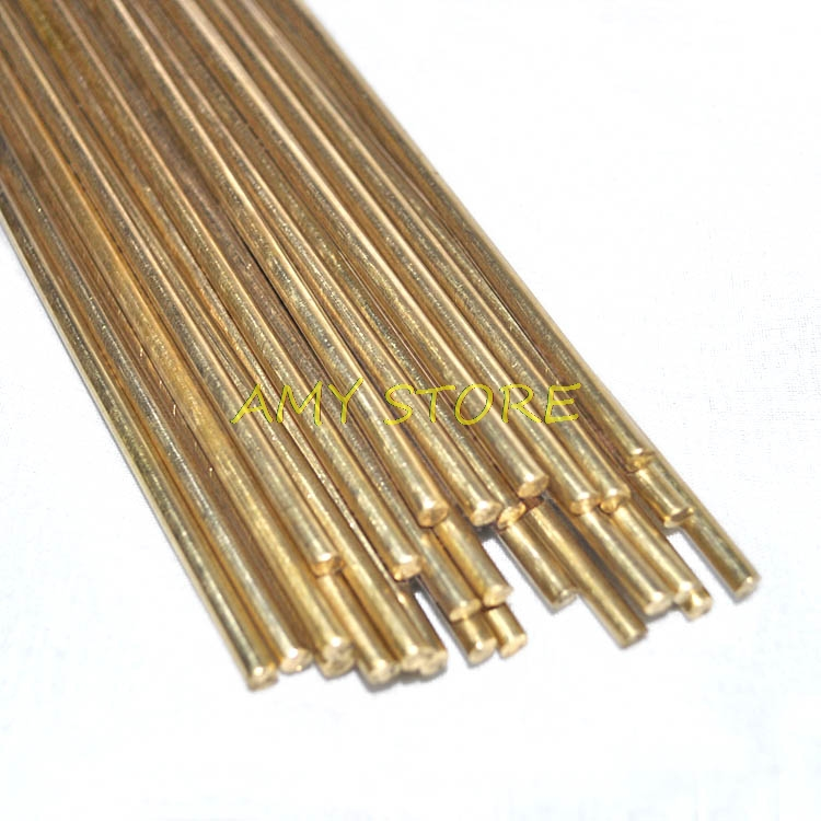 5pcs Brass Rods Wires Sticks Electrode 1.0/1.2/1.3/1.5/1.6/1.8/2.0/2.2/2.5/3.0x 500mm Gold Repair Welding Brazing Soldering Rod