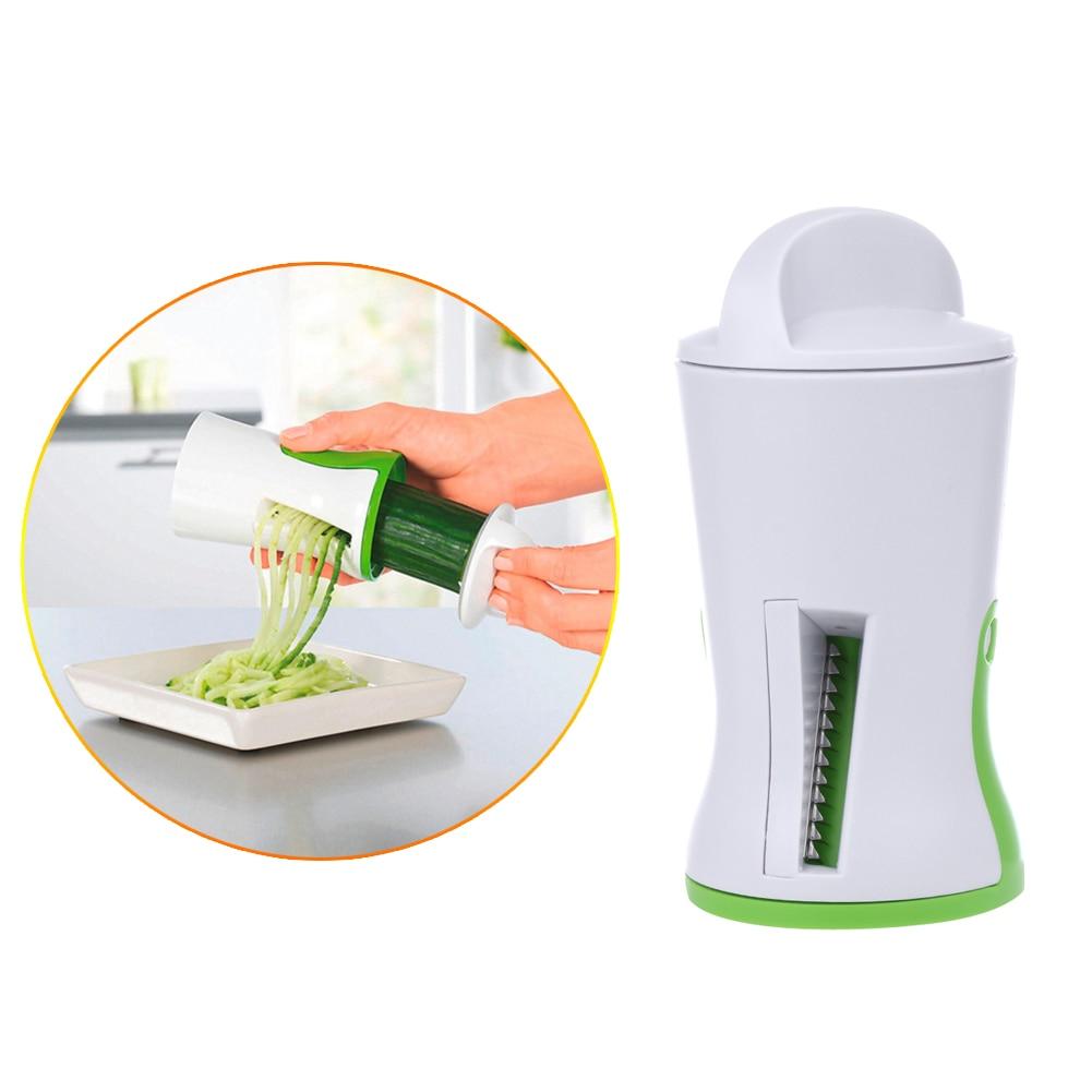 Vegetal Fruta Espiral Slicer zanahoria 2-Blade Proceso Dispositivo Cortador Cort