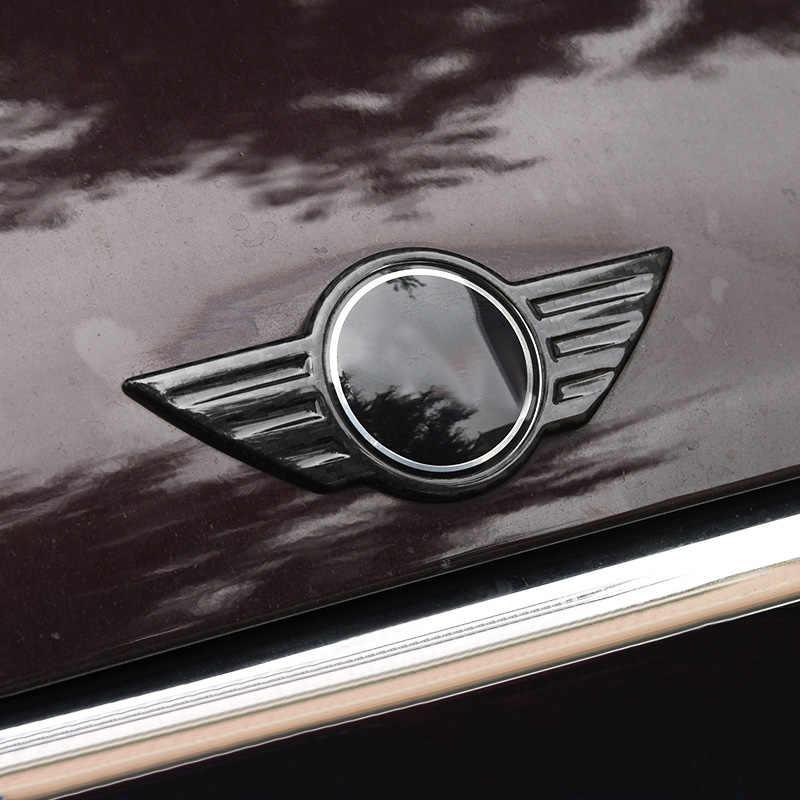 Углеродное волокно автомобилей Знак логотипа Передняя крышка капота задний багажник Хвост Эмблема для Mini Cooper F54 F55 F56 F60 R60 R61 R55 R56 Countryman