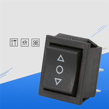 цена на 1 pc Self Reset Toggle Switch 3 Positions Copper 6 Feet Power Boat Rocker Switch Panel 23x28x30mm KCD 250V 15A Switch button