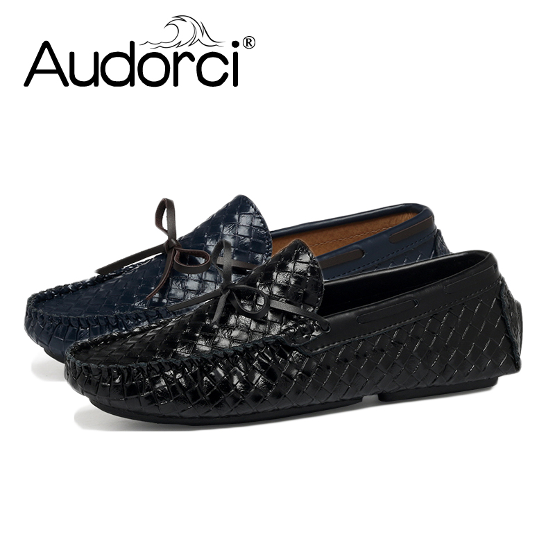 Audorci Brand Mens Casual Shoes Fashion Peas Shoes Suede Leather Men Loafers Moccasins Slip On Men's Flats Male Driving Shoes good quality professional remington hair straightener tp 1042 keratin therapy digital straightener with smart sensor us plug