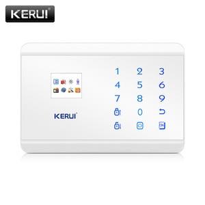 Image 1 - KERUI 8218G White Black Alarm Control Center Panel Android IOS APP control GSM PSTN Home Burglar Security Alarm System