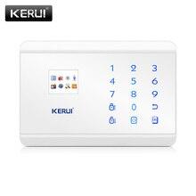 KERUI 8218G biały czarny Alarm centrum sterowania Panel Android IOS kontrola aplikacji GSM PSTN dom włamywacz System alarmowy