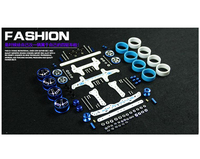 Free Shipping 1 Set MA AR Chassis Modify Spare Parts Set Carbon Fiber Kit For DIY