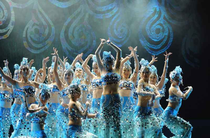 Dai Dance Costumes Costumes Water Spirit Dance Peacock Dance Adult Performance Clothing Sequin Fishtail Skirt