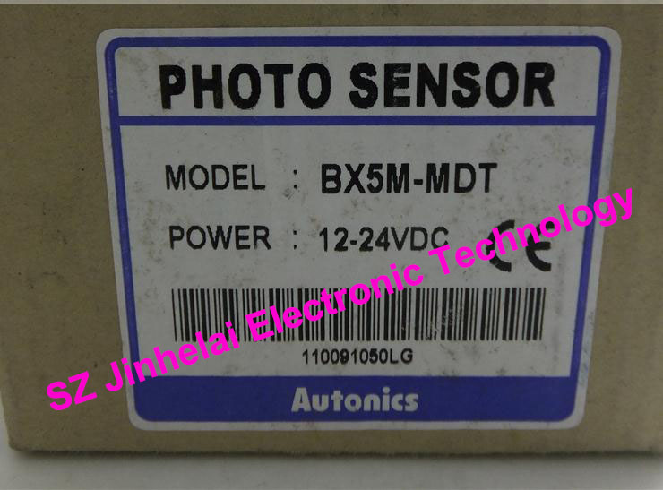 100% New and original  BX5M-MDT  AUTONICS  PHOTOELECTRIC SWITCH    12-24VDC new original br3m mdt autonics photoelectric sensors