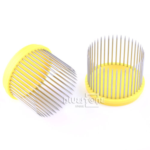2pcs Yellow Beekeeping Tool Stainless Steel Needle Cages For Queen Bees New комплектующие для кормушек beekeeping 4 equipment121mm 91 158