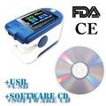 CONTEC CE/FDA Fingertip Pulse Oximeter Spo2 Monitor +PC Software 24Hours,CMS50D+