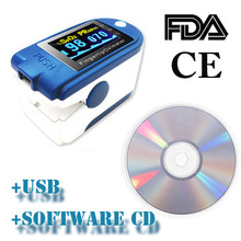 CONTEC CE/FDA Fingertip Pulse Oximeter Spo2 Monitor +PC Software 24Hours,CMS50D+(China (Mainland))