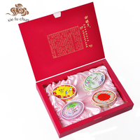 Xiefuchun Chinese Traditional Solid Perfume Set Kit 4pcs Jasmine Osmanthus Rose Gardenia Pure Natural Herb Perfume