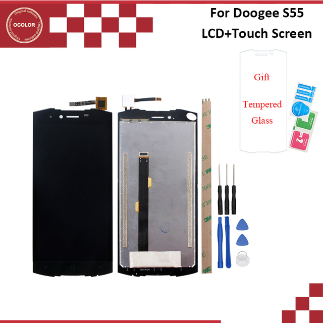 ocolor For Doogee S55 LCD Display And Touch Screen 5.5 Inch With Tools And Adhesive For Doogee S55 Lite LCD Phone Accessories
