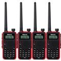 4Pcs Walkie Talkie Retevis RT5 136-174/400-520MHz 8W 128 CH Scan VOX DTMF FM Handy Talkie 1750Hz Ham Radio A9108A