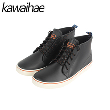 Rubber Shoes Rain Boots Man Comfortable Black Man Boots Waterproof Round Toe brand Ankle boots Kawaihae
